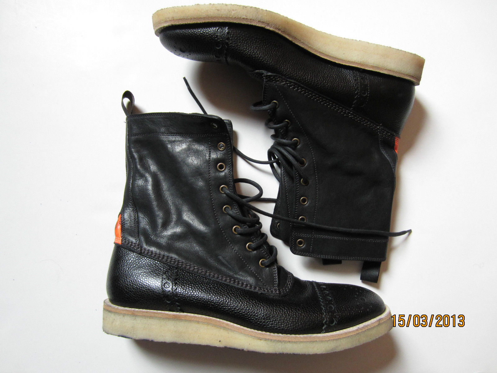 paul smith mens brogue boots black leather size 8 42 ebay