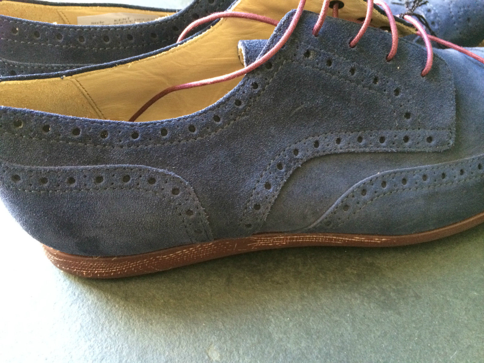 paul smith herren schuhe blau wildleder kent brogues gr e 8 42 made in italy ebay. Black Bedroom Furniture Sets. Home Design Ideas
