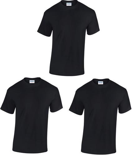 New pack of 3 gildan heavy cotton plain short sleeve t for Plain t shirt pack
