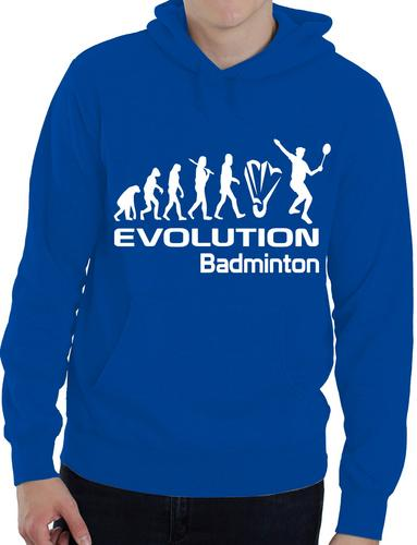 Evolution Of Badminton Sport Funny Mens Ladies Hoodie Gift Size S-XXL