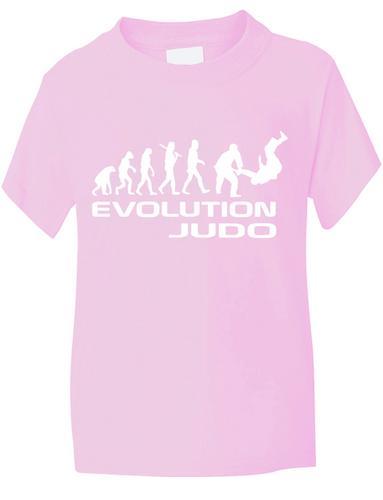 Evolution-Of-Judo-Artes-Marciales-Gracioso-Nino-Nina-camiseta