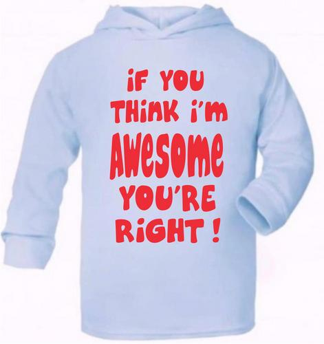 If You Think I/'m Awesome Newborn Baby Girls Boys Hoodie Present