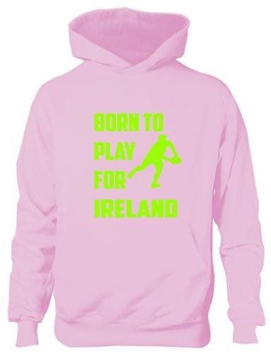 Born-a-Jouer-Pour-Irelande-Irlandais-RugbyBoys-Filles-Enfants-Capuche-Age