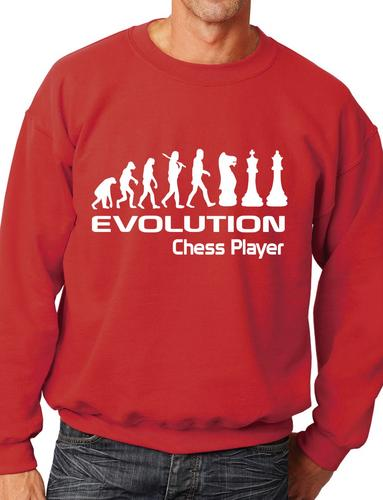 Evolution Of Chess Player Funny Adult Sweatshirt Jumper Birthday Gift Size S-XXL