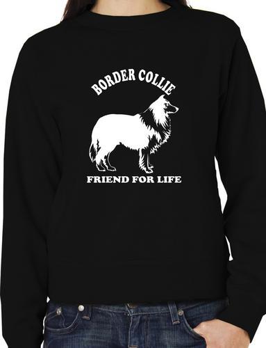 Style Sweatshirt Border Collie Dog Lover Adult Sweater Jumper Birthday Gift Idea