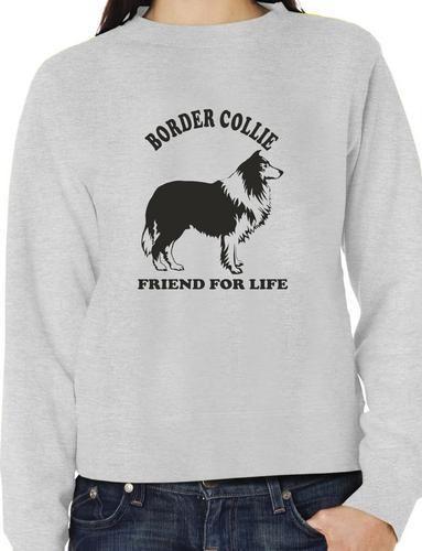 Border Collie Dog Lover Adult Sweater Jumper Birthday Gift Idea Size S XXL