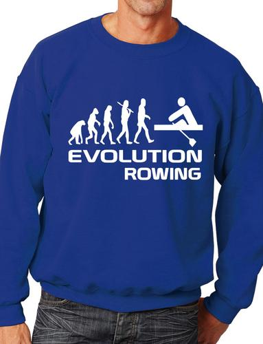 Evolution Of Rowing Rowers  Funny Adult Sweatshirt Jumper Birthday Gift  S-XXL