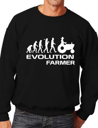 Evolution Of Farmer Farming  Funny Adult Sweatshirt  Birthday Gift Size S-XXL