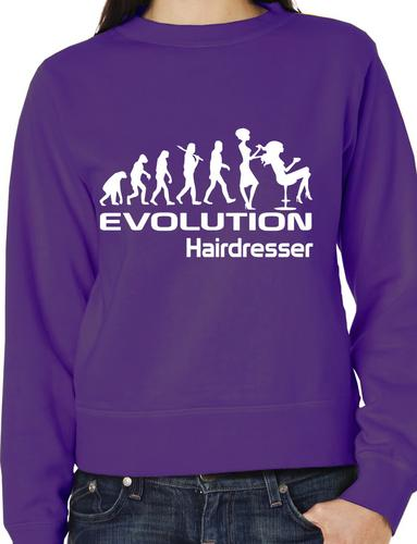 Evolution Of A Hairdresser  Gift Hairdressing Sweatshirt Jumper  Size S-XXL