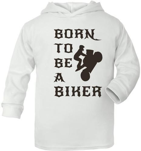 Born To Be A Gooner  Cute Present Baby New Born Gift  Supersoft Baby Hoodie